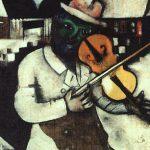 """""""Der Geiger auf dem Dach – Literarische Erkundungen zu Marc Chagalls Schtetl-Bildern"""". Vortrag und Lesung am 29. November in der Stadtbibliothek."""